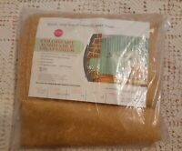 """Vintage Sears Colorfast Washable Draperies GOLD Pleated Draperies 48""""x63"""""""