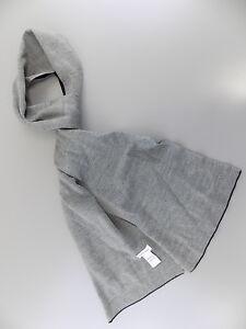 Calvin Klein $85 MEN Gray Solid Acrylic LOGO BLACK SALE Scarf G03