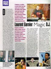 Coupure de Presse Clipping 1998 (1 page) Laurent Garnier magic D.J