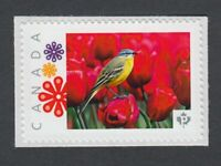 BIRD ON TULIP  Picture Postage stamp Canada 2014  p76bd6/3