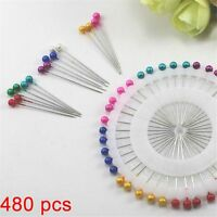 480 Pcs Mix Color Round Head Fixed Position Needle Dressmaking Sewing Pin