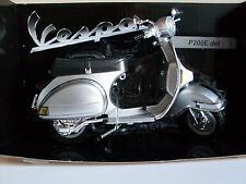 1978 Vespa P200E DEL Silver, NewRay Motorcycle Scooter Model 1:12
