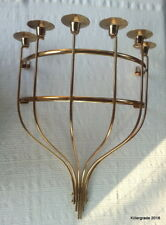 """Mid Century Brass 6 Candle Wall Sconce 23""""  Indoor/Outdoor  Crazy Cool"""
