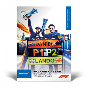 2021 Topps Now F1 #52 Ricciardo & Norris McLaren Lockout Formula 1 PRESALE