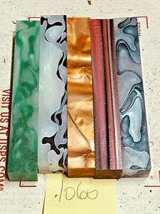 5 PIECES OF  ACRYLIC~PEN BLANKS 1060