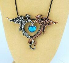 Halskette die Schöne und das Biest als Anhänger Schmuckstück Engel Elfe Drachen