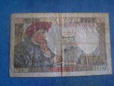 billet de 50 francs français date13 6 1940
