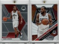 2019-20 Panini Mosaic Kawhi Leonard #4 Will to Win & #78 Base LA Clippers