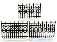 Dept. 56 Victorian Wrought Iron Fence Extension Set of 3 Retired 2001 New 52531
