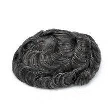 GEX Toupee Mens Hairpiece Bella Basement Wig Human Remy Hair Replacement Systems 1b30#