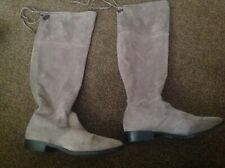 Grey Faux Suede Over The Knee Boots From Dorothy Perkins Size 7