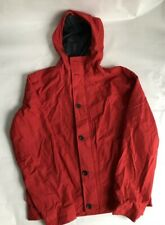 Timberland Womens Waterproof Hooded Windbreaker Rain Coat Jacket Red Size M