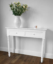 Crisp WHITE Belgravia style CONSOLE TABLE / Hall Table shabby/chic
