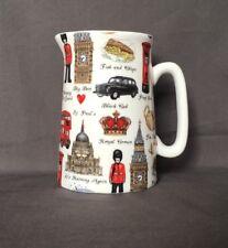 Bone China Half Pint Jug London Pattern Hand Decorated Wales Gift