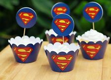 Cupcake Cup Cake Decorating,Toppers Wrappers PARTY DECORATION,Superman Super man