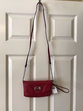 Nine West Tunnel Convertible Cross Body Bag RED NWT