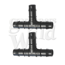 TEE 13mm x2 DOUBLE BARB ANTELCO irrigation pipe fitting water hydroponics hose