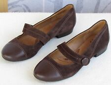 7 | Sofft Womens Brown Suede Leather Sock Mary Jane Slip-On Flats Shoes