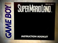 Super Mario Land - 1989 Gameboy Nintendo NES Manual Only