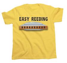 Kids EASY REEDING Harmonica Harp Mouth Organ Unisex Novelty Music T-Shirt