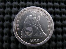 1878-cc Cancelled Die Variety Seated Quarter
