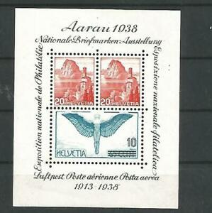 SCHWEIZ Block 4 postfrisch - NABRA AARAU 1938 -
