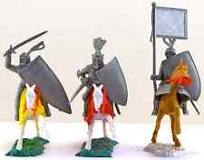 Timpo Recast Mounted Knights - Three (3) 54mm unpainted plastic models - 1990s