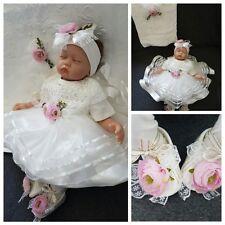 Neu! Babyset mit Decke Taufkleid Mevlüt takimi Taufe Weiß Rosa Mädchen 56 62