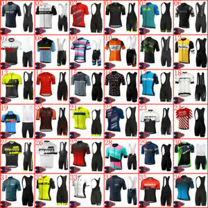 Cycling Clothing Set Men's Bike Jersey Bib Shorts Kits Shirt Pants Suits