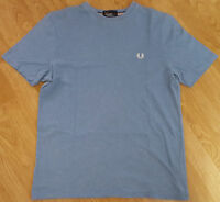Fred Perry T Shirt Tee Top Short Sleeves Ladies Crew Neck Blue Size UK XL