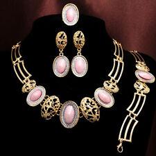 CW_ Wedding Bridal Women  Drop Pendant Chain Necklace Bracelet Earrings Ring Set