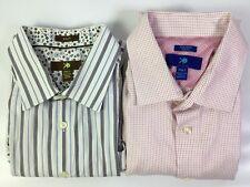 Lot of 2 Egara Mens Shirt Long Short Sleeve Button Up Collar Flip Cuff Sz 2XLT
