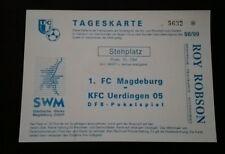 Top Ticket 1.FC Magdeburg KFC Uerdingen DFB Pokal 1998 Krefeld FCM Bayer