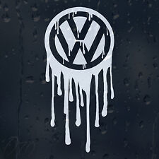 Bloody Drips Volkswagen Logo Car Decal Vinyl Sticker VW Golf Passat Scirocco