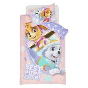Licensed Paw Patrol Quilt Cover Set SKYE, EVEREST, Double Bed Pink Nickelodeon