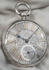 More details for fusee pocket watch silver & gold dial. (full work.order) *1875* london mk.