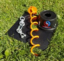 Tangle-free Dog Tie Out for Large and XL Dogs - two dog tie out - Double Dog Run