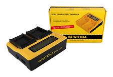 Caricabatteria rapido DUAL LCD Patona per Panasonic Lumix DMC-TS4,DMC-3D1
