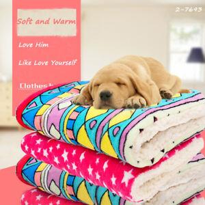Pet dog cat blanket large pet mat kennel mattress soft cushion warm washable C1