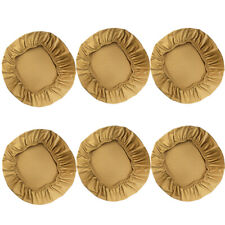 6Pcs Stretch Dining Room Chair Cushion Slipcover Seat Cover Khaki