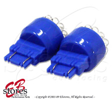 1 Pair (Set of 2) Blue Front Signal 19 LED 3157 Light Bulbs 4157 3457A 3757A