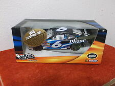 "New ""Hot Wheels""Black ""Nascar #6"" Pfzer"" Ford Taurus Cast Car.Released.2002"