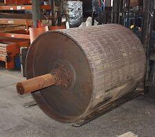 Roller conveyor mining head drum roller 1120mm diameter 1315mm rubber coated