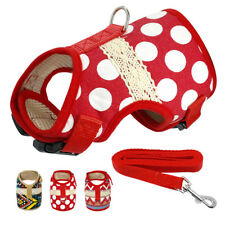 Cute Small Dog Harness and Leash set Soft Nylon for Pet Puppy Chihuahua 4 Sizes