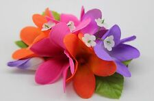Hawaii Hair Clip Lei Party Luau Plumeria Flower Dance Beach Photo Purple Pink BL