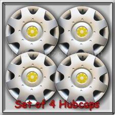 "2002-2003 16"" VW Volkswagen Beetle Yellow Daisy Flower Hub Caps, Wheel Covers"