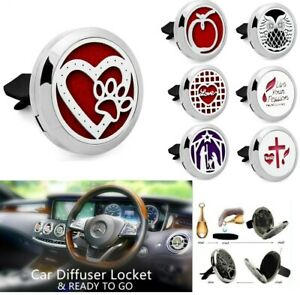 30mm Stainless Steel Car Air Vent Clip Diffuser Locket Freshener Essential Oil