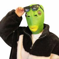 Green Fish Hat Halloween Fun for Party Plush Animal Headpiece