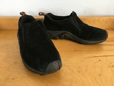 Merrell Jungle Moc Midnight Black Suede Slip On Loafer Women's Shoes Size 7.5/38