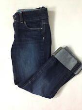 """Paige Jeans Hidden Hills Sz 27 Waist 28"""" Inseam Dark Wash Low Rise Distressed C"""